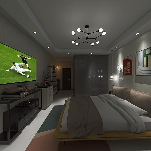 Standard Room Poolside Interior Design Render