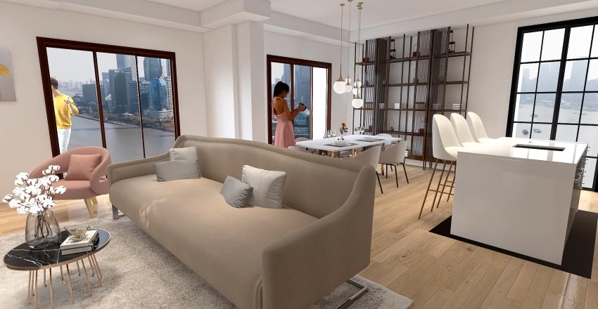 Cucina nel corridoio Interior Design Render