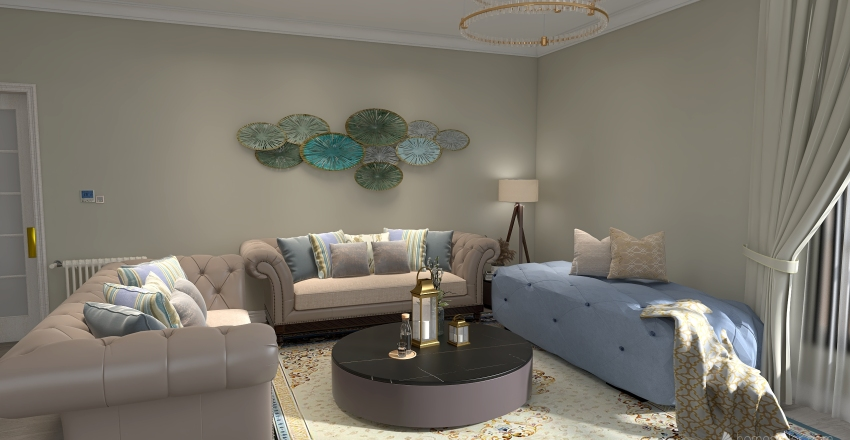 Beautiful living room  Interior Design Render