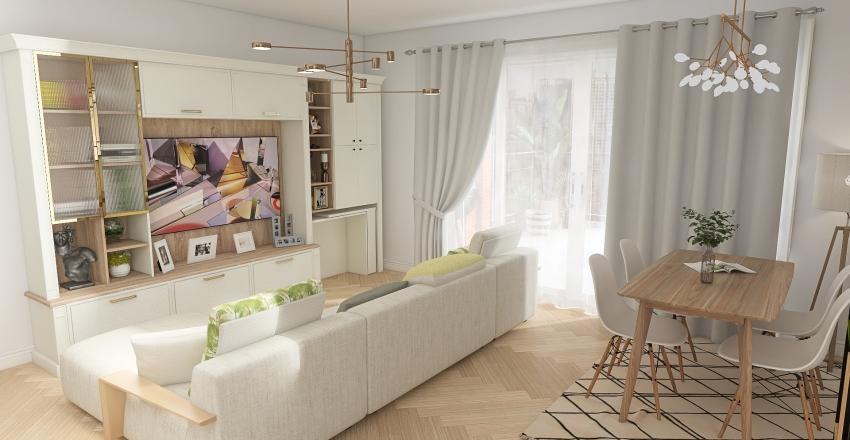 Departamento de Soltera Interior Design Render