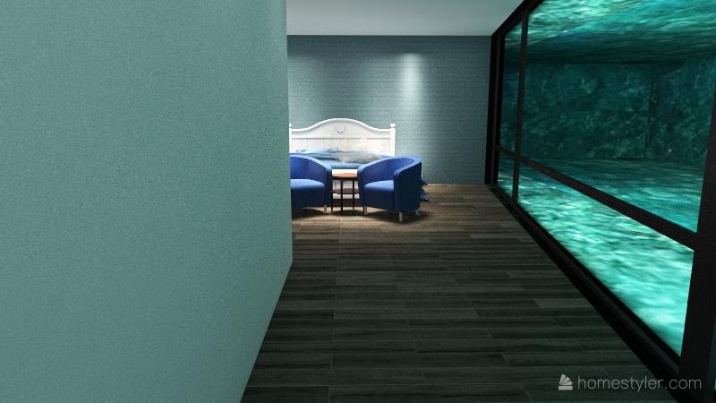 The House Under The Ocean! Interior Design Render
