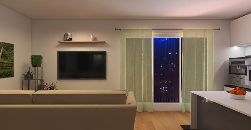 2 Bed/Bath Interior Design Render