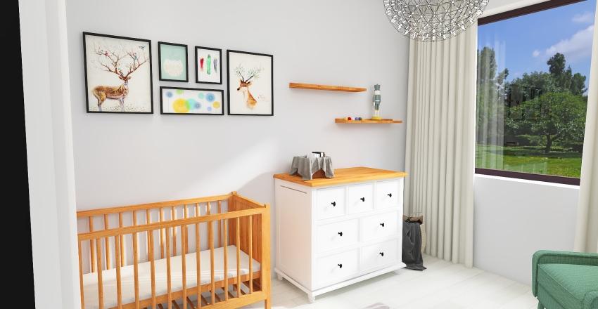 Woodland Baby Room Interior Design Render