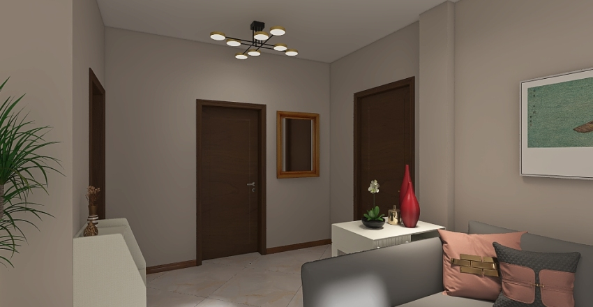 Living T-2 Interior Design Render