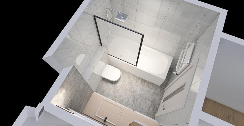 Toaleta-nabok Interior Design Render