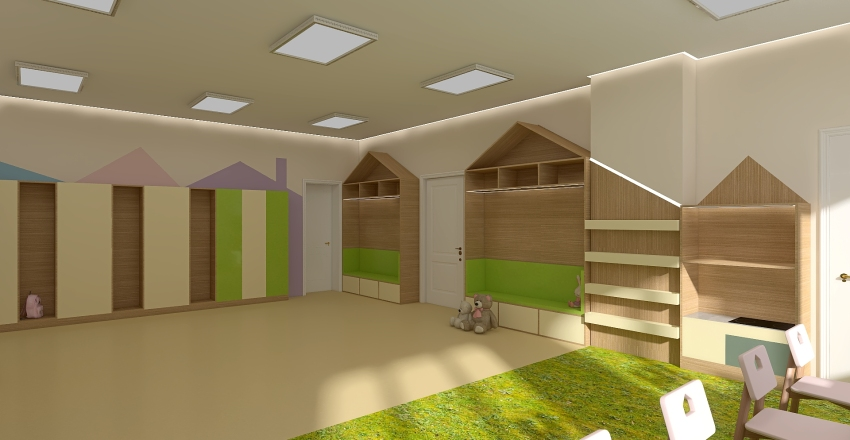 Детский сад Interior Design Render