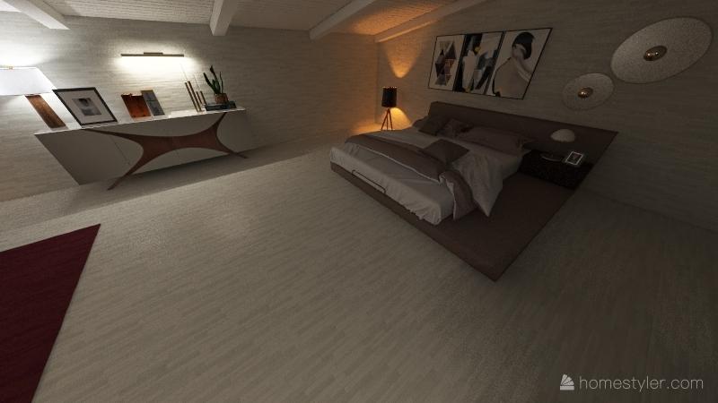 villa B via ROSELLI Forte dei Marmi NARDI Interior Design Render