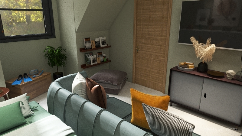 Bonus Room Interior Design Render