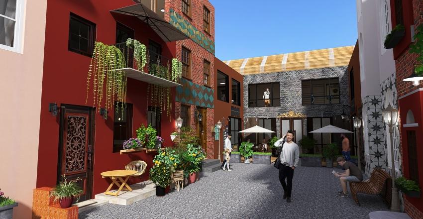 Rue Française en bord de mer Interior Design Render