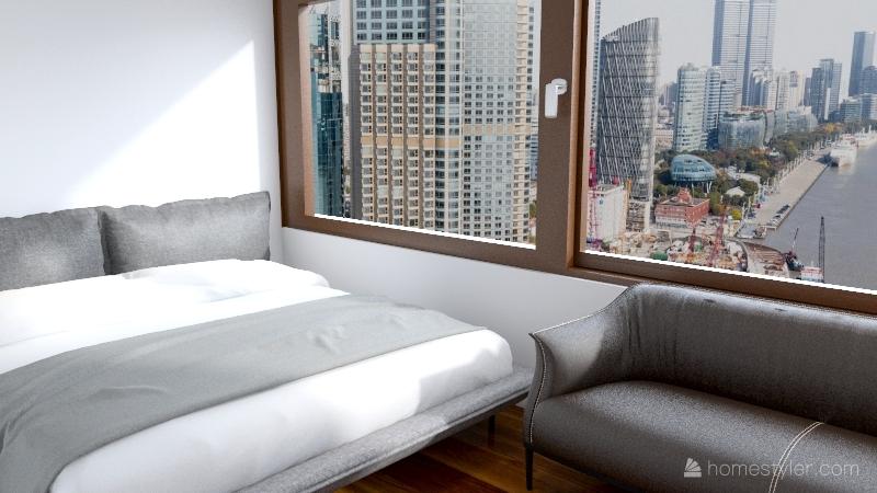 Aiden 2 bed 1 bath Interior Design Render