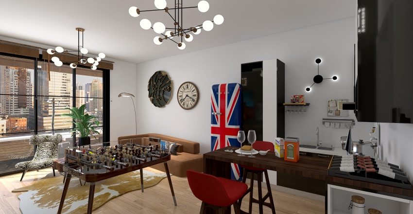King Residence Interior Design Render