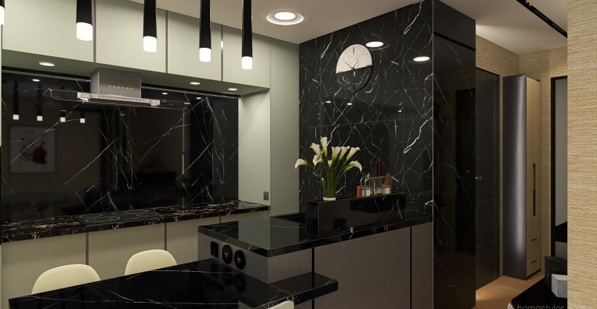 Marina Flat Interior Design Render