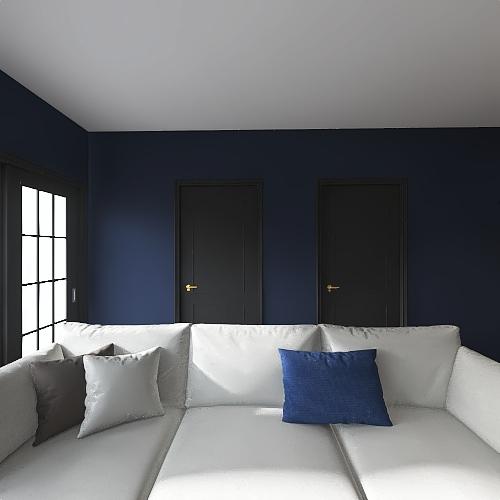 2 Bed 1 Bath Interior Design Render