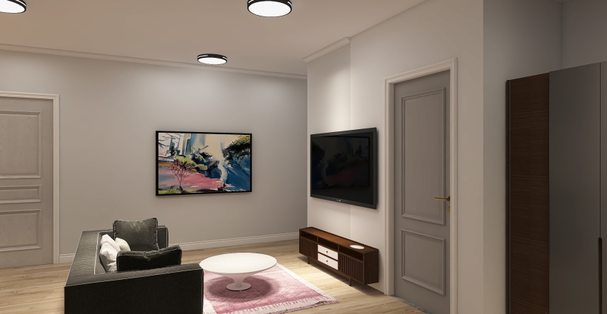 2 bed/ 1 bath Interior Design Render