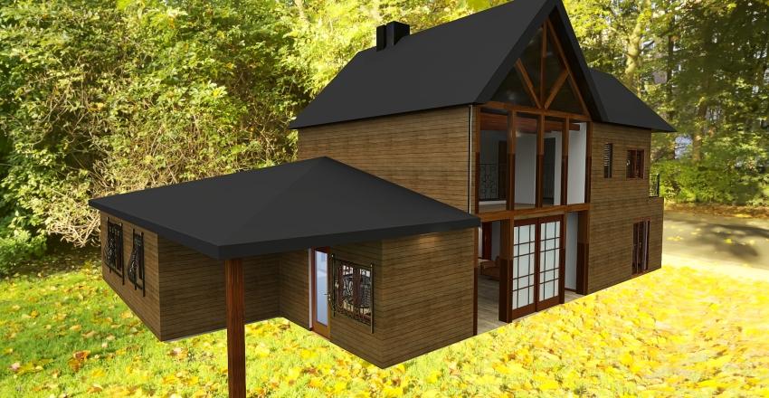 Casa en Puerto Montt V1 - 2 pisos Interior Design Render