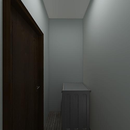 2 Bedroom 1 Bathroom Interior Design Render