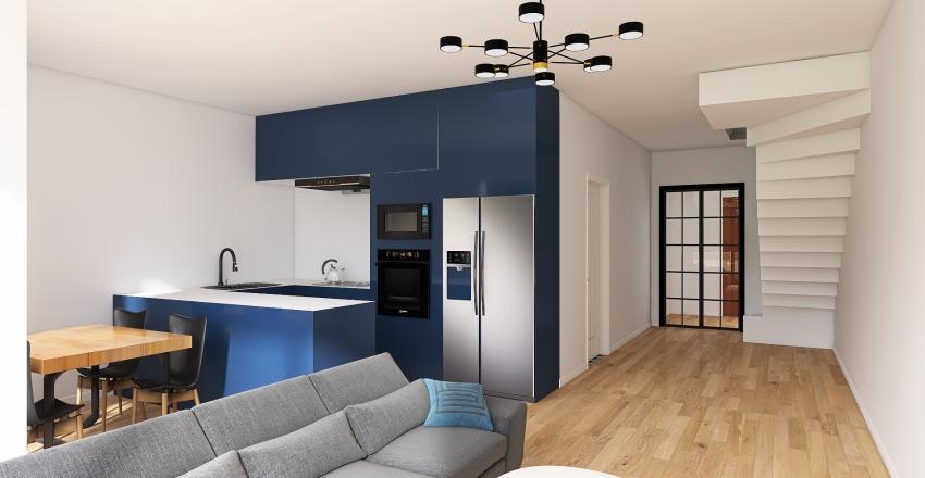Schody pełne - nowy dom Interior Design Render
