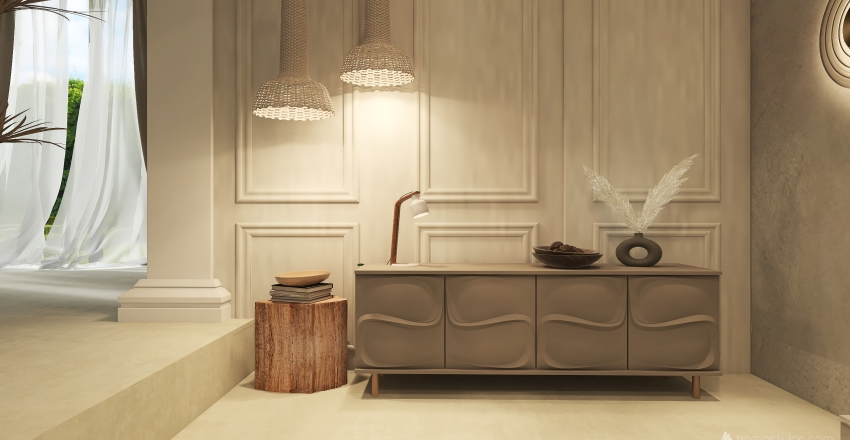 JAPANDI ELEGANCE Interior Design Render
