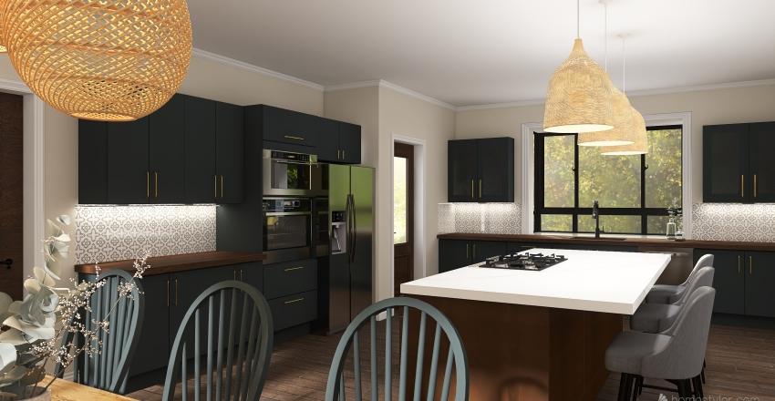 Moody Farmhouse Interior Design Render