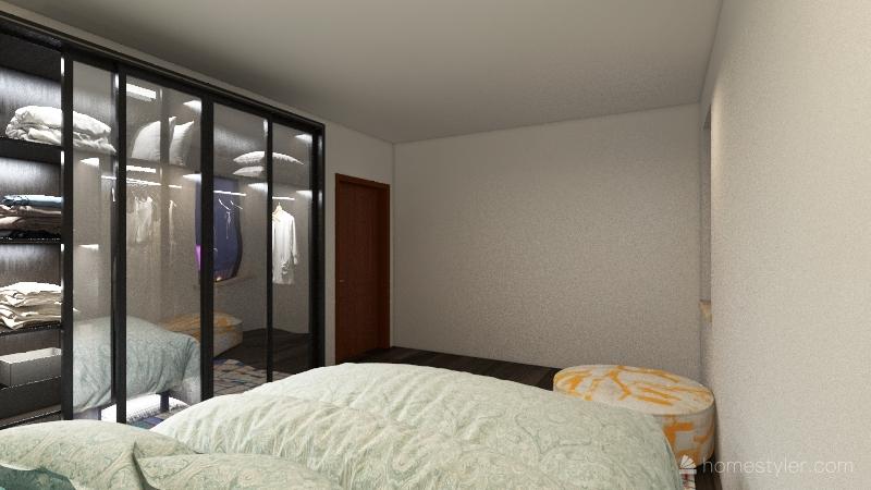 2 Bed, 1 Bath Apartment Interior Design Render