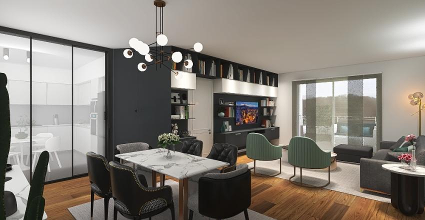 Attico 2p Interior Design Render