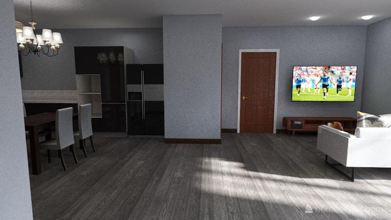 2B 1B Interior Design Render