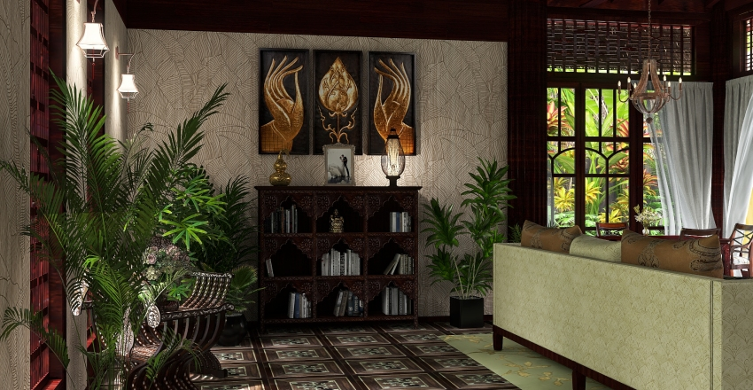 LUNA DE MIEL EN EL PARAISO Interior Design Render