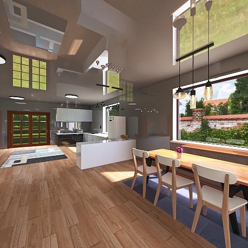 casa fortaleza Interior Design Render