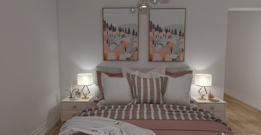 Pretty Pink Interior Design Render