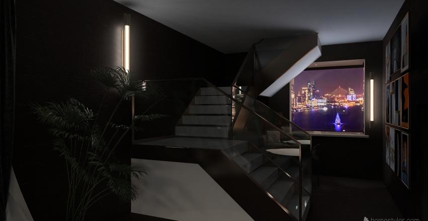 COMPLETE 4 FLOOR+ BASEMENT PROJECT Interior Design Render