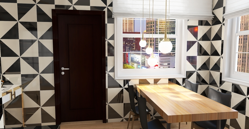 quitinete moderna Interior Design Render
