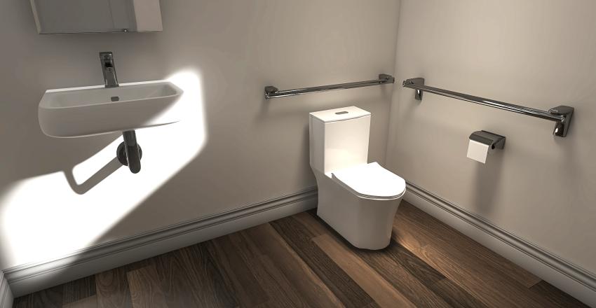ADA Bathroom Interior Design Render