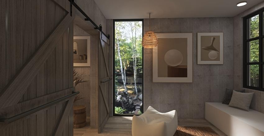 Japandi Master Suite Interior Design Render