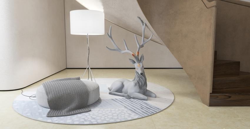 Modern Oriental Style Interior Design Render