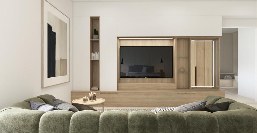 Modern and Minimal House. Interior Design Render