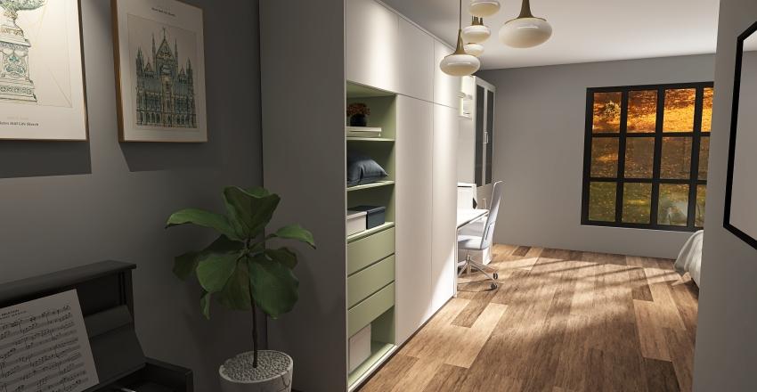 small and confortable Interior Design Render