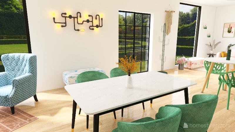 Restaurant + apartment Interior Design Render