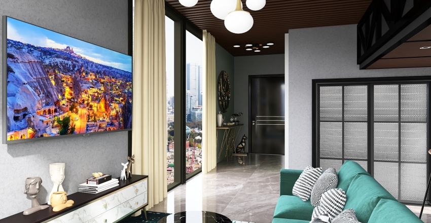 QUIZ-2 LIVING ROOM Interior Design Render