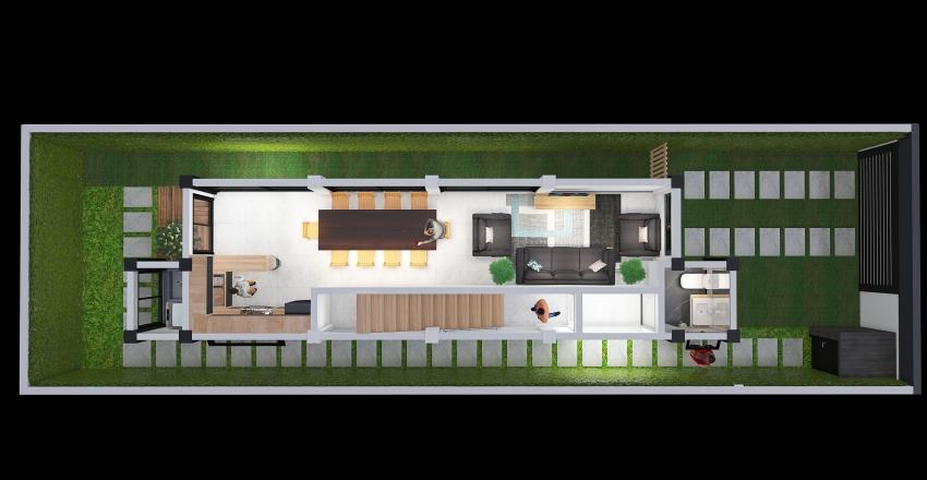 CASA DE2 PISOS - 1era. PLANTA Interior Design Render