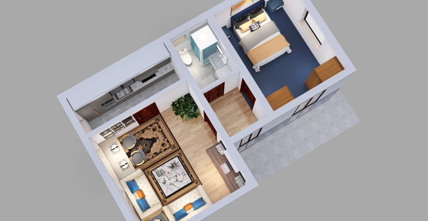 Gornje Medjurovo Interior Design Render