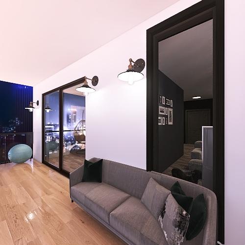 black Interior Design Render