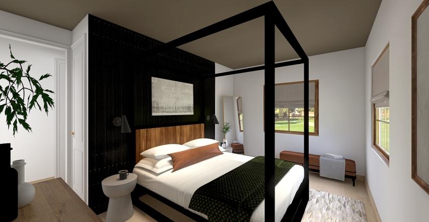 Rustic Master Bedroom Interior Design Render