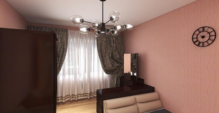 Small apartament in Ukraine Interior Design Render