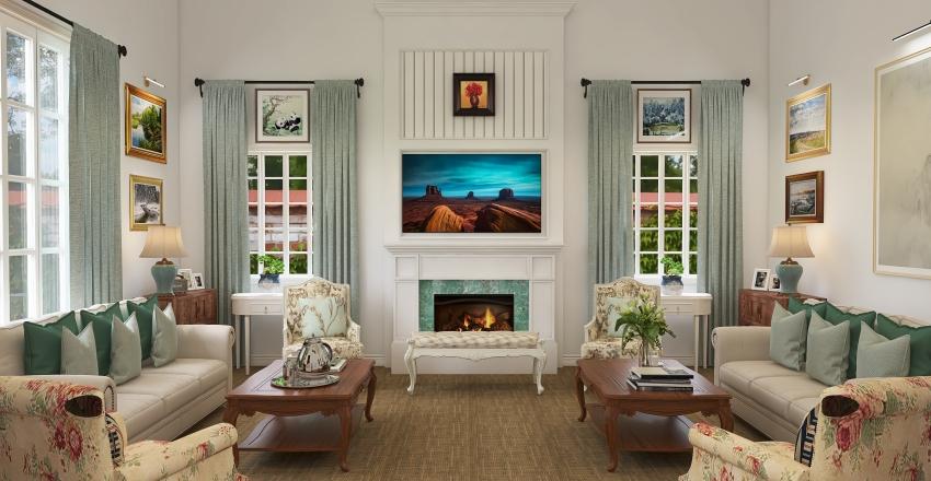 Formal Living room Interior Design Render