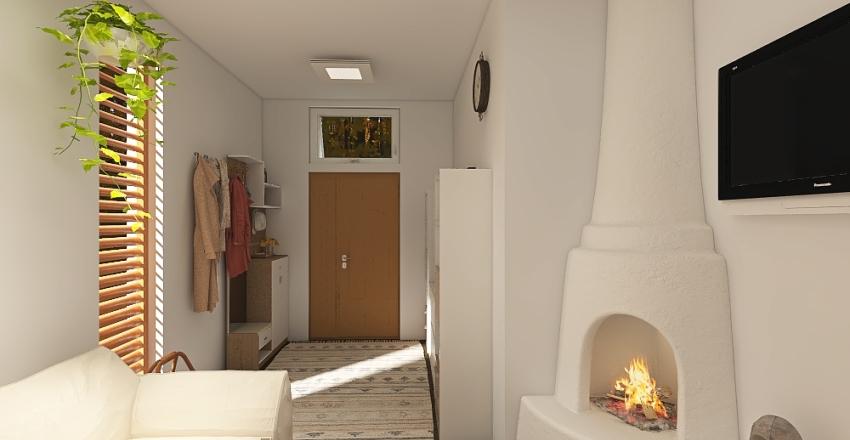 Pequeña casa en el campo Interior Design Render