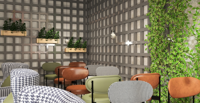 Jungle bar. Interior Design Render