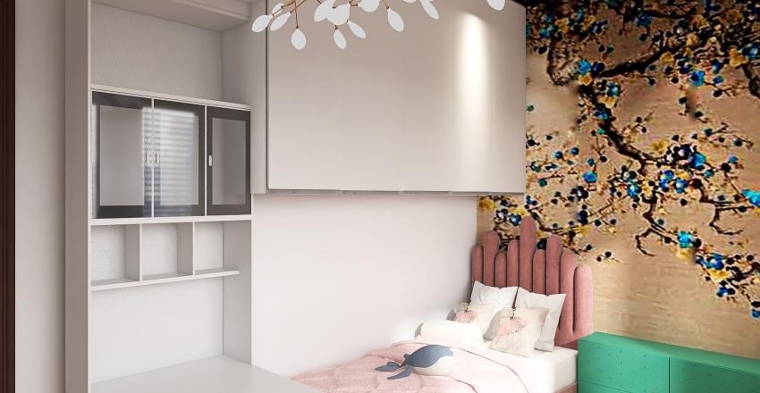 Bedroom for 2 girls Interior Design Render