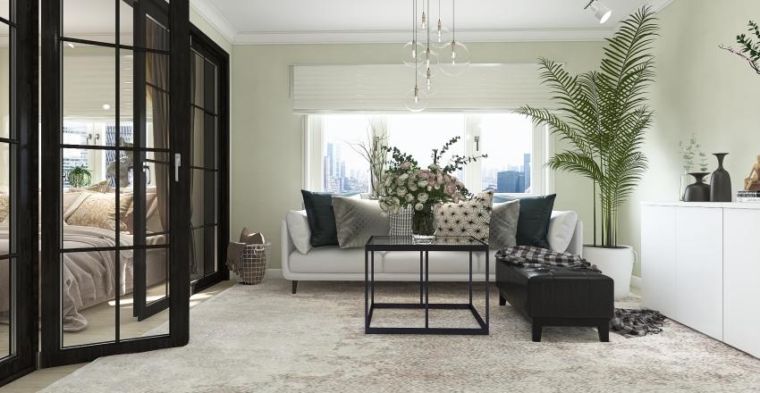 Scandinavian/Industrial Style Interior Design Render
