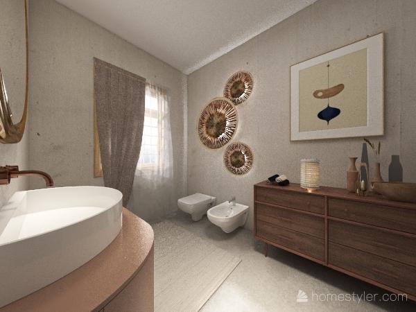 Bathroom design style Natural Interior Design Render