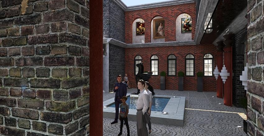 Visite d'un monument Français Interior Design Render